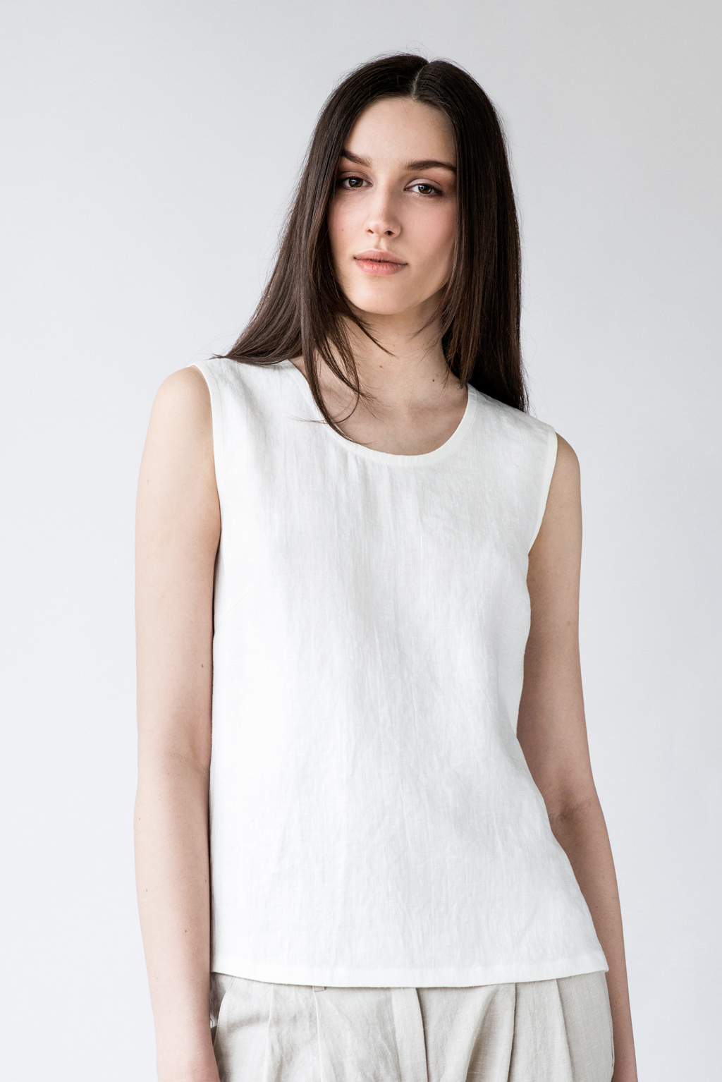 Eva tank top in white color by Ode to Sunday